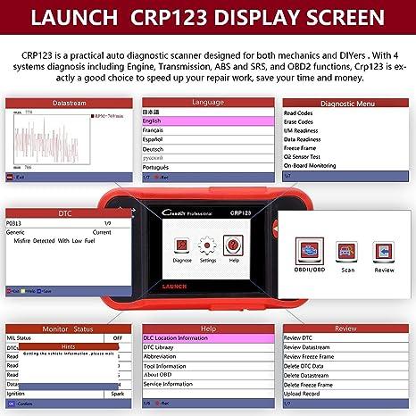 Launch Creader CRP123 Engine/ABS/SRS/Transmission Automotive Code