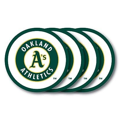 Amazon.com: MLB Oakland Athletics Posavasos (4 unidades ...
