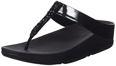 22da491ced3 FitFlop Women s Fino Toe Post Black Sandal