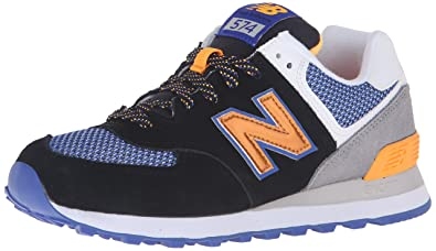 New Balance Women's WL574 Summit Running Shoe, Black/Steel, ...