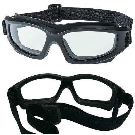 4f2e20e097 Amazon.com  Clear Motorcycle Riding Goggles  Heavy-Duty Riding ...