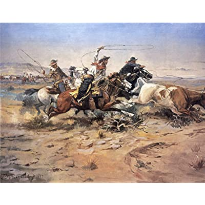 11 x 14 Inch Puzzle Cowboys Roping A Steer by Charles Marion Russell: Toys & Games