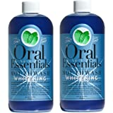 Oral Essentials Whitening Mouthwash (Pack of 2) 16 Oz: For Daily Use Without Sensitivity Dentist Formulated & Certified Non-Toxic: Removes Stains without Bleach/Harsh Chemicals Whiter Teeth in 10 Days