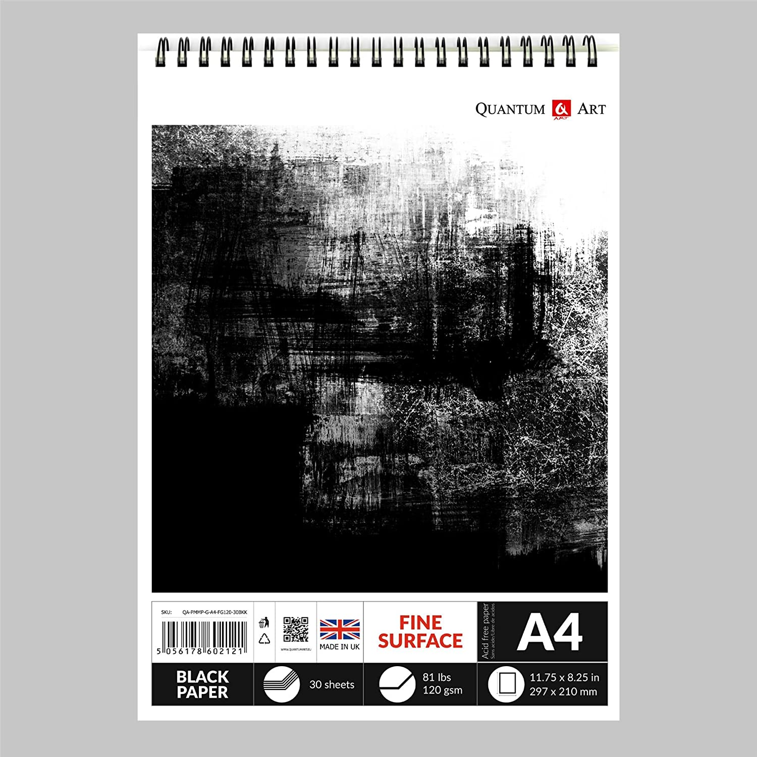 Black A4 120gsm Art Paper 100 Sheets