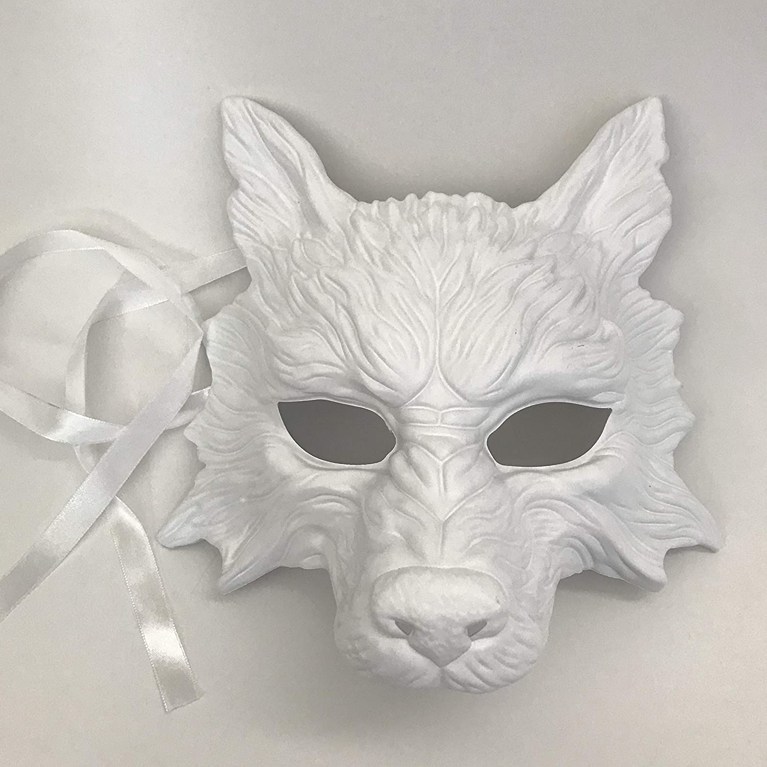 The Wolf Mask is Done | Wolf mask, Paper mache mask, Paper mache | 1500x1500