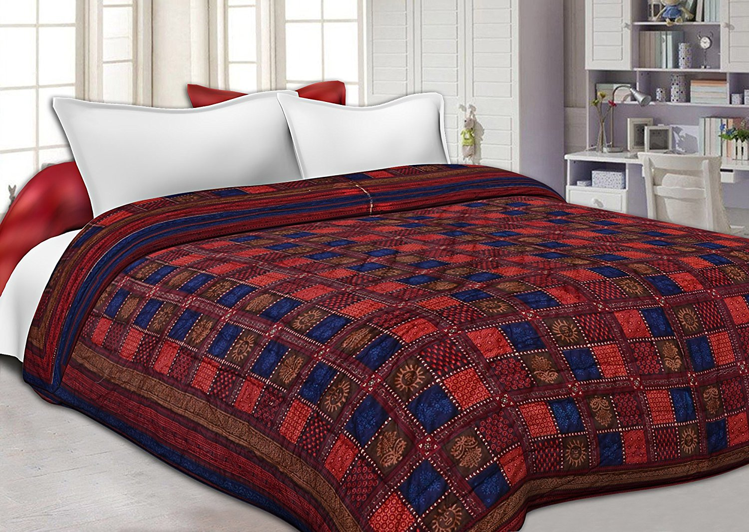 Amazing Buy Famacart Double Bed Size Jaipuri Pure Cotton AC Quilt Razai Printed  Winter Quilt Blanket (King Size) Online At Low Prices In India   Amazon.in
