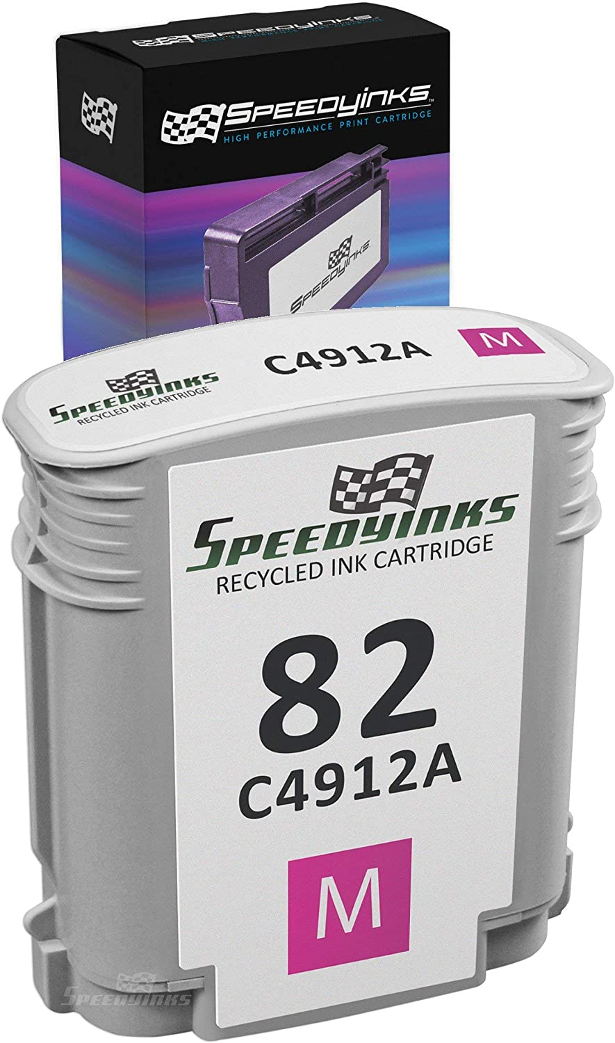 Speedy Inks Remanufactured Ink Cartridge Replacement for HP 82 C4912A (Magenta)