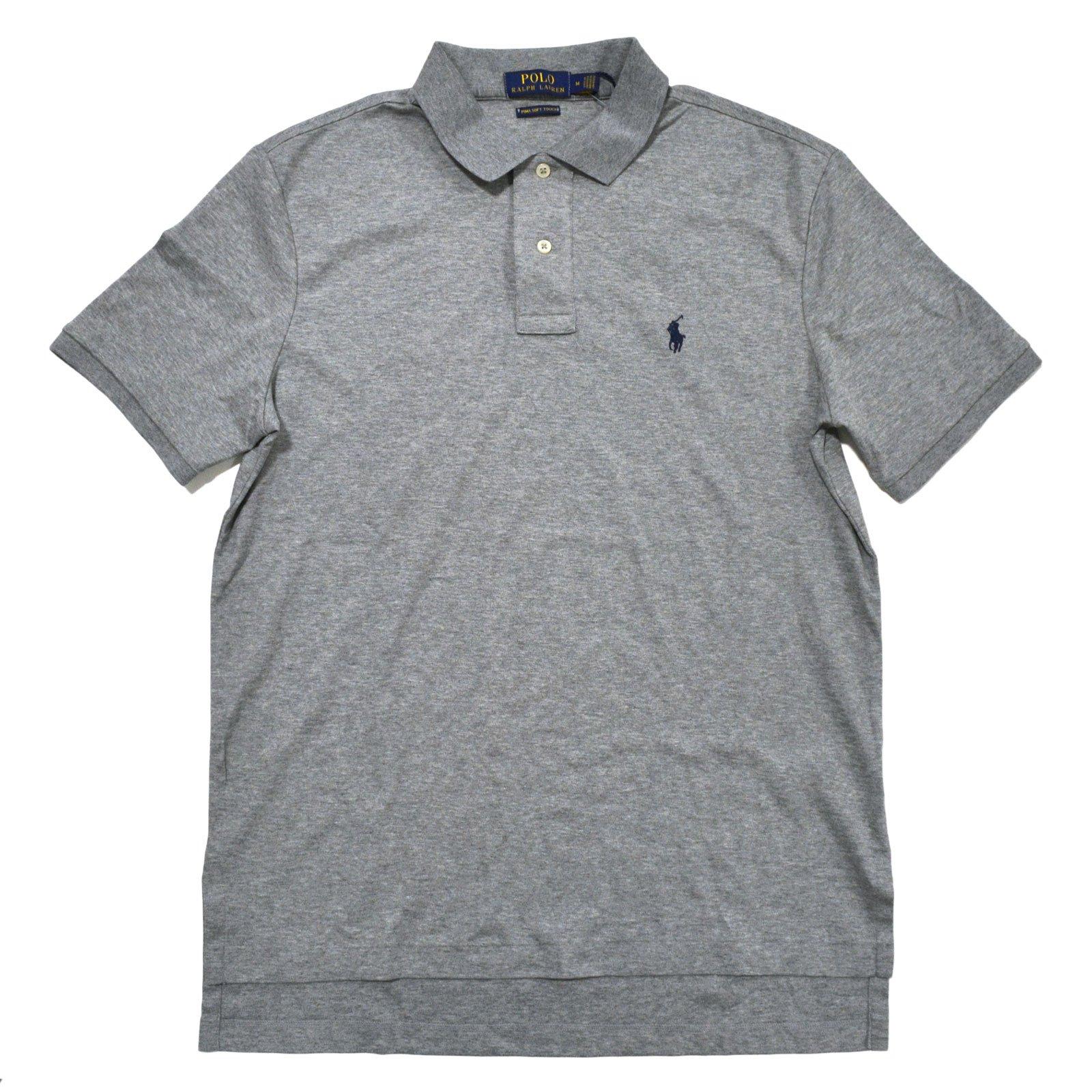 Polo Ralph Lauren Mens Pima Soft Touch Interlock Polo Shirt (XX-Large, Andover Heather Grey)