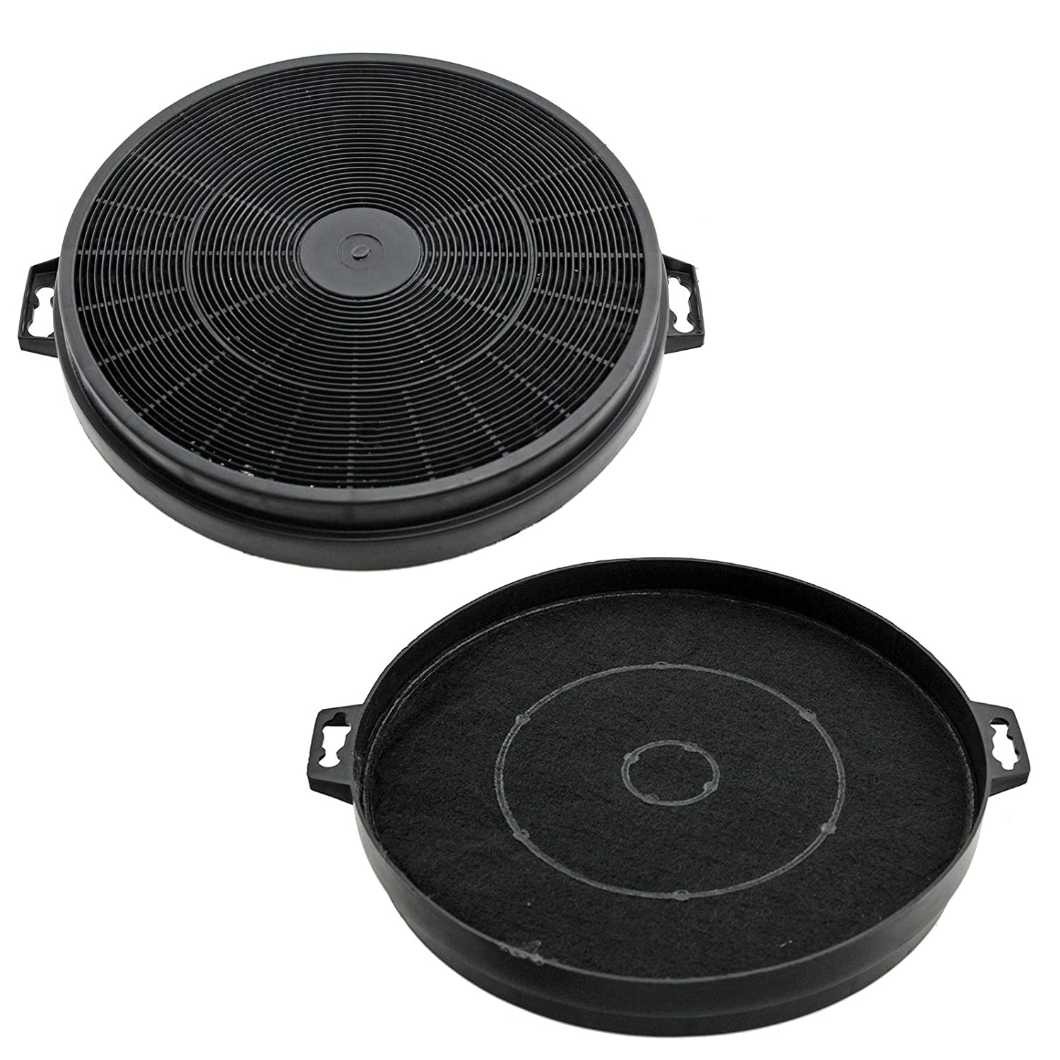 SPARES2GO Charcoal Vent Filter For Baumatic S1 Cooker Hoods (Pack of 2)