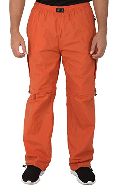 luxuriant in design 100% authentic most fashionable Vibes Mens Convertible Nylon Cargo Pocket Pants Zipoff Knee ...