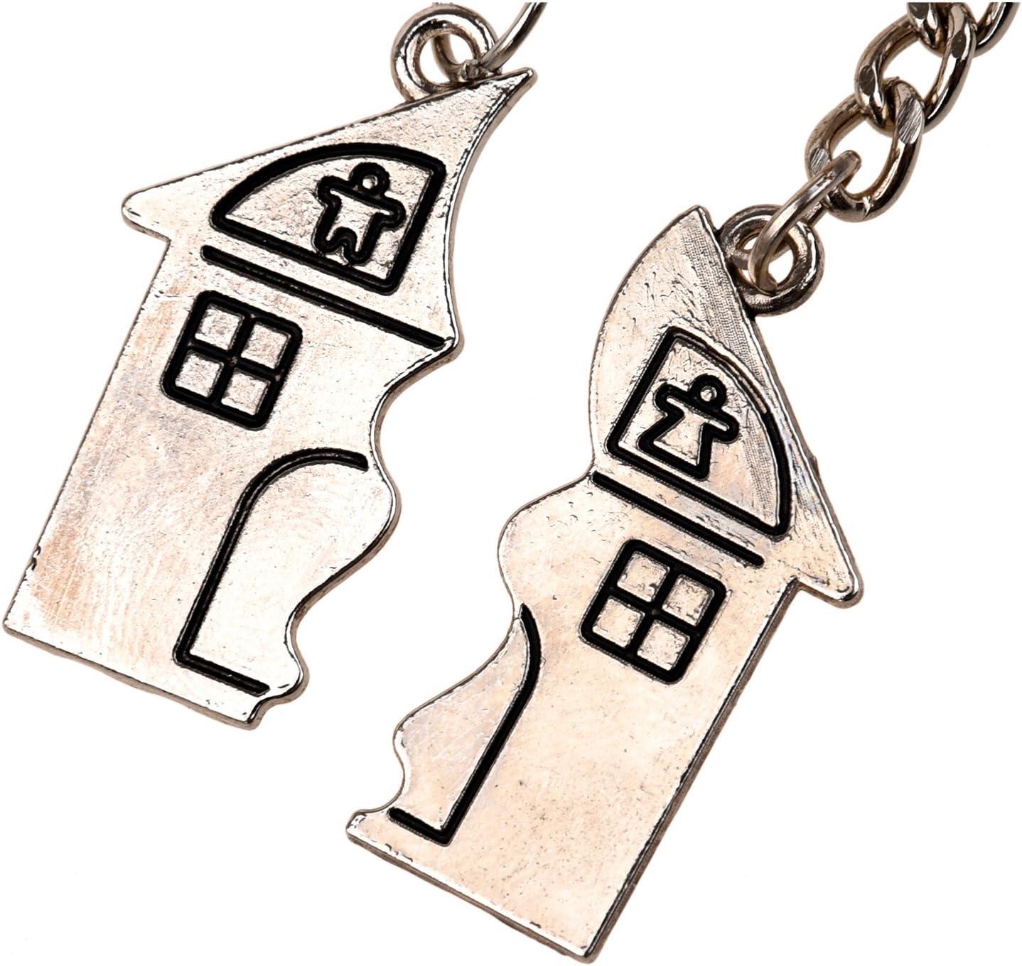 Kamenda 2 en 1 Porte-cl/és damour magn/étique en Forme de Maison