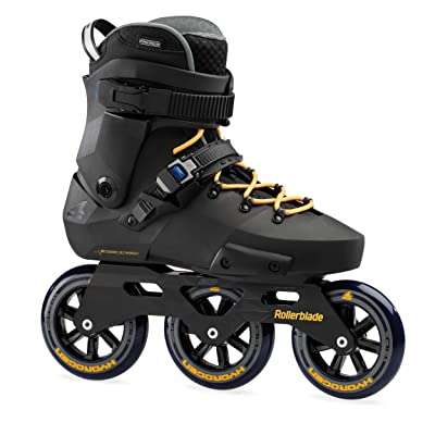 Rollerblade Twister Edge 110 3WD Unisex Adult Fitness Inline Skate, Black and Mango, Premium Inline Skates : Sports & Outdoors