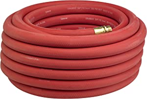 "Underhill H10-025R 1"" UltraMax Heavy Duty Commercial Hose, 25' Length, Red"