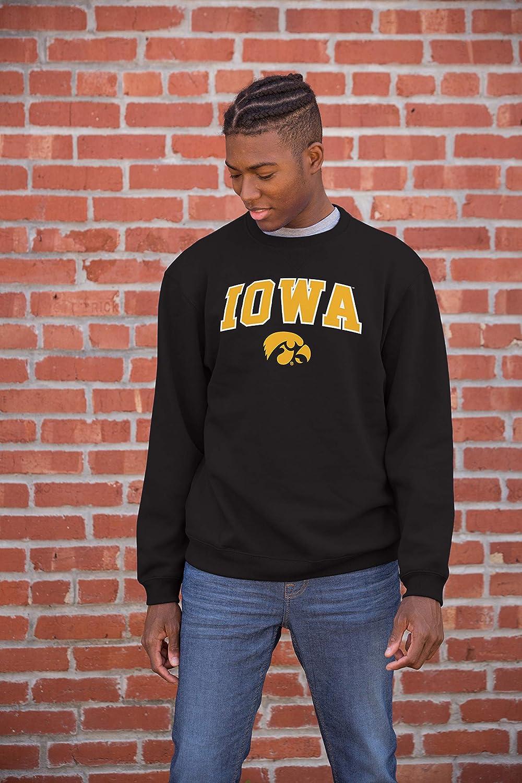 NCAA Iowa Hawkeyes Mens Team Color Crewneck Sweatshirt Black XX-Large