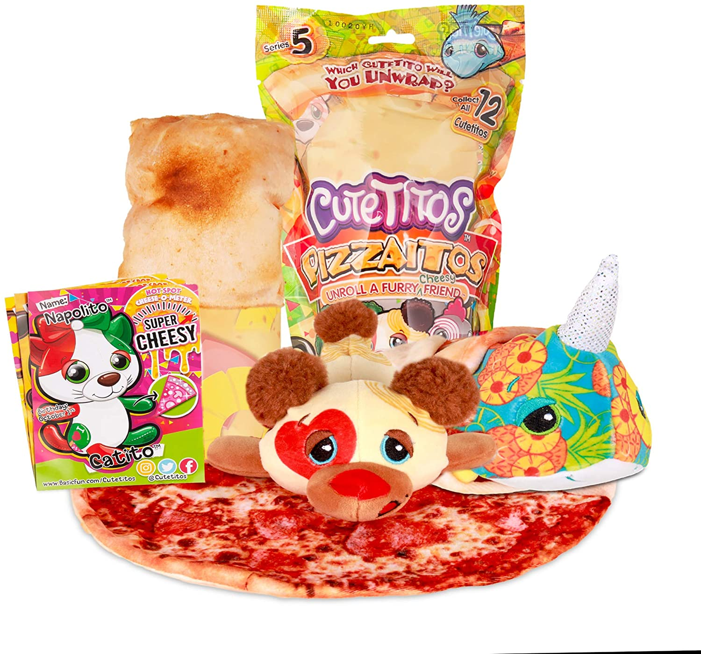 Basic Fun Cutetitos Pizzaitos - Surprise Stuffed Animals - Collectible Pizza Plush - Ages 3+ - Series 5