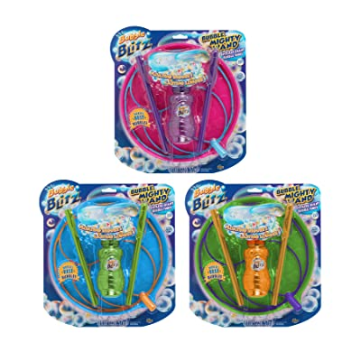 Bubble Blitz Mighty Wand Giant Bubble Maker Solution Tray Kids Fun Play Kit: Toys & Games