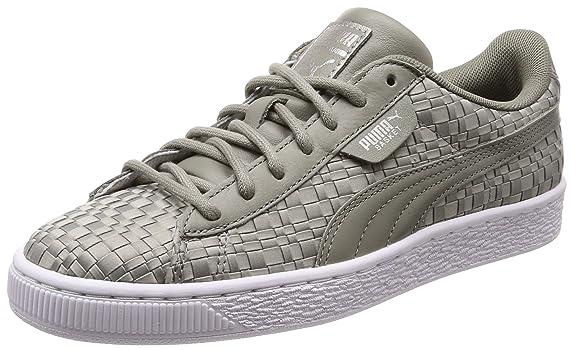 Puma Damen Basket Satin EP WN's Sneaker, Grau (Rock Ridge), 37.5 EU