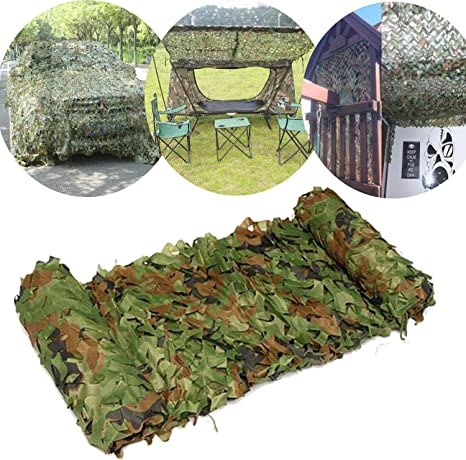 Tarnnetz Camouflage Netz Für Waldlandschaft Jagd Outdoor Tarnung Camo Deko DE