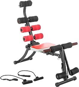 Ultrasport GymChair, Ganzkörpertrainer klappbar, Fitnessgerät für Zuhause, Heimtrainer mit Massagefunktion, Sportgerät für Ganzkörper Training für Bauch, Bizeps, Rücken, Arme
