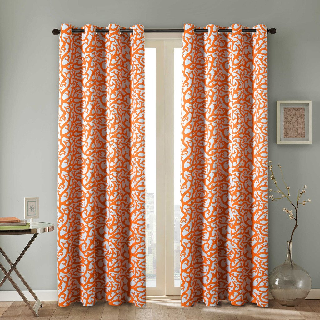 H.Versailtex Soft and Smooth Printed Energy Saving Blackout Kids Room Curtains for Winter