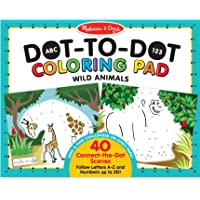 Melissa & Doug  ABC 123 Wild Animals Dot-to-Dot Coloring Pad