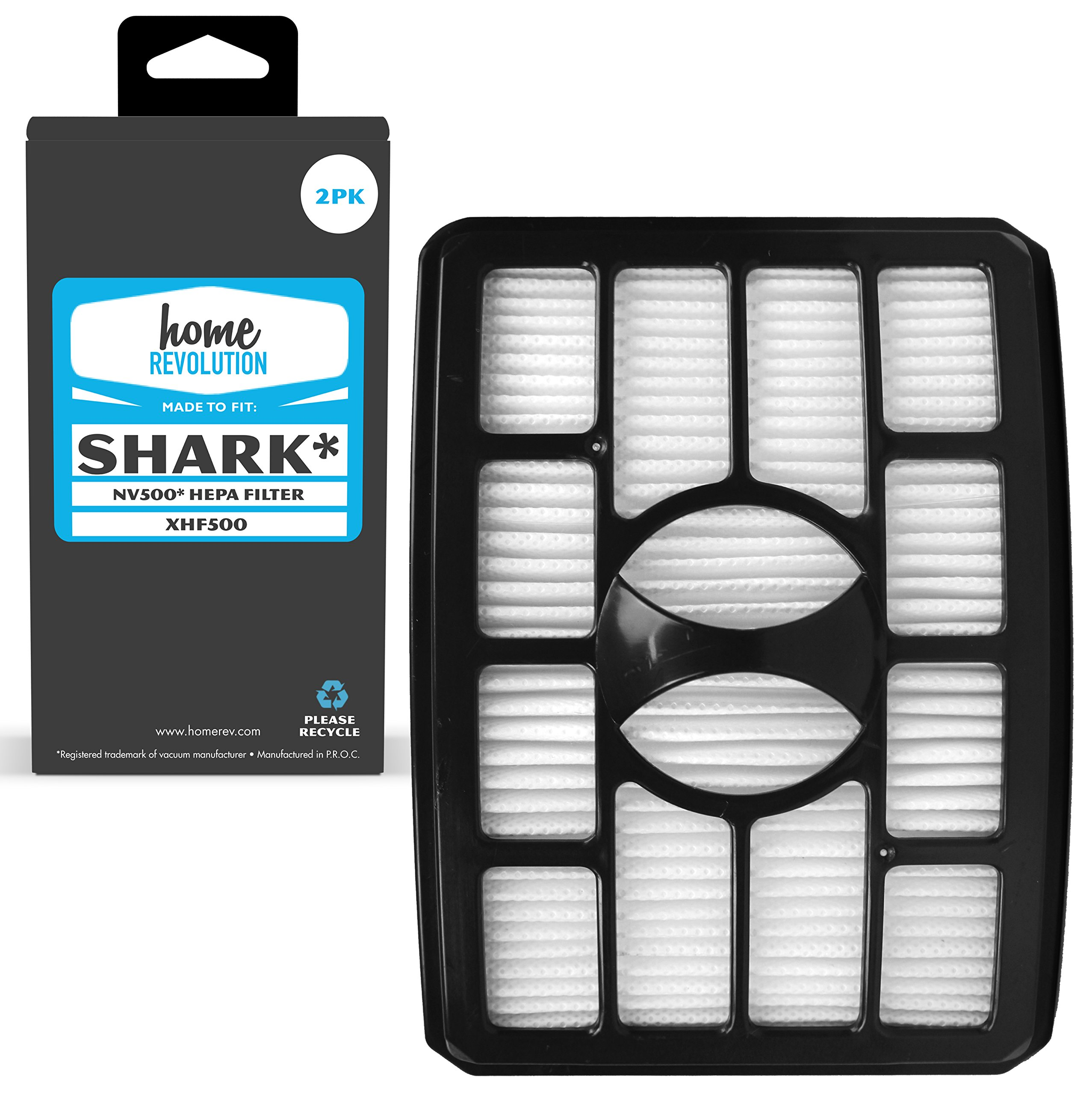 Shark Part # XHF500 for NV500 Rotator Pro Lift-Away Vacuum, Comparable HEPA Filter. A Home Revolution Brand Quality Aftermarket Replacement 2PK by Home Revolution