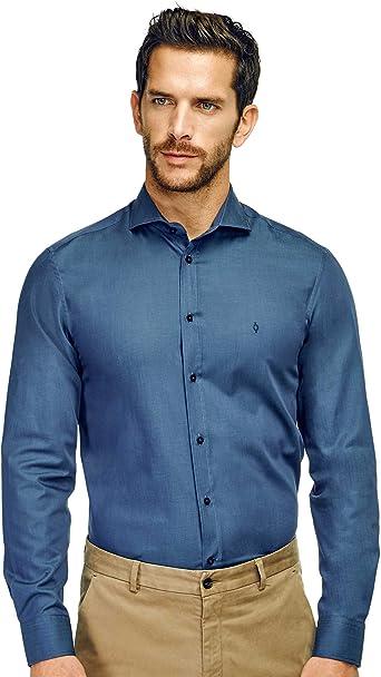 Caramelo, Camisa Slim Cuello Cutaway, Hombre · Azul Tinta ...
