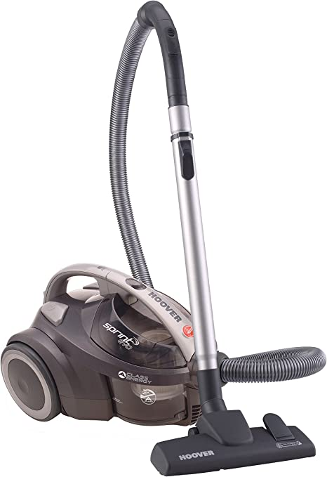 Hoover Sprint Evo SE41 - Aspirador sin bolsa, Sistema ciclónico, Filtro EPA, Cepillo para suelos duros y alfombra, 700W, Depósito fácil de vaciar 1,5L, 80dBA, Cable 7,5m, Potencia fija, Gris: Amazon.es: Hogar