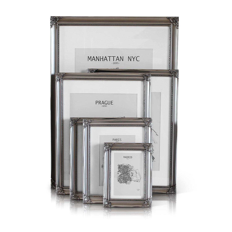 Antiguo Pulido Cristal para Marco de Fotos 18 X 12cm Vidrio