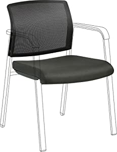 Lorell Stackable Mesh Back/Fabric Seat Chair Back & Seat Kit, Black