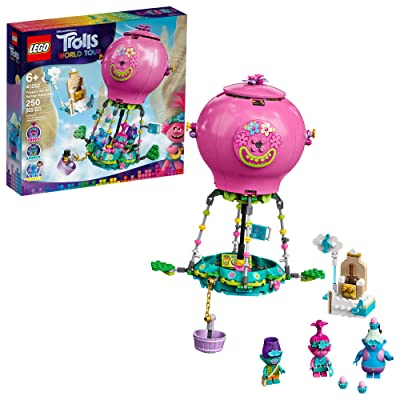LEGO Trolls World Tour Poppy's Hot Air Balloon Adventure 41252 Building Kit, An Ideal Holiday Gift for Creative Play, New 2020 (250 Pieces): Toys & Games