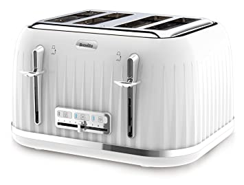d67144a71727 Breville VTT470 Impressions 4 Slice Toaster - White: Amazon.co.uk ...