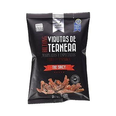 Kubdu Gourmet - The Spicy - Virutas de Ternera Especiada Y Marinada - 40 g