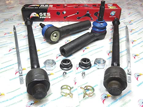 Front Inner /& Outer Tie Rod End Kit Set of 4 for Escalade Silverado Tahoe Sierra