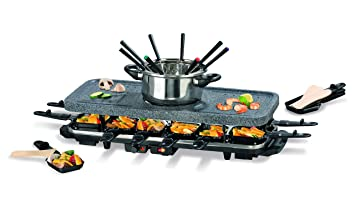 Raclette Fondue Set gourmetmaxx 05402 raclette and fondue set with heat 1600 w