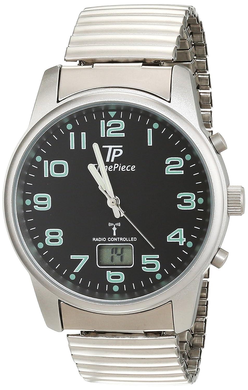 TP Time Piece , TPGA,10239,22M , Montre Homme , Quartz Analogique ,  Radio/Aiguilles , Bracelet Acier Inoxydable Argent Amazon.fr Montres