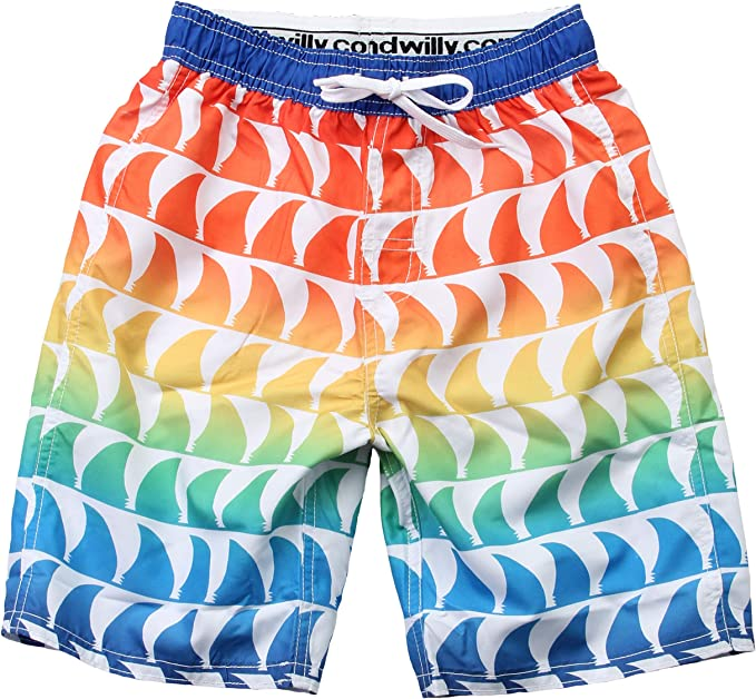 Wes and Willy Peace Signs Swim Trunk