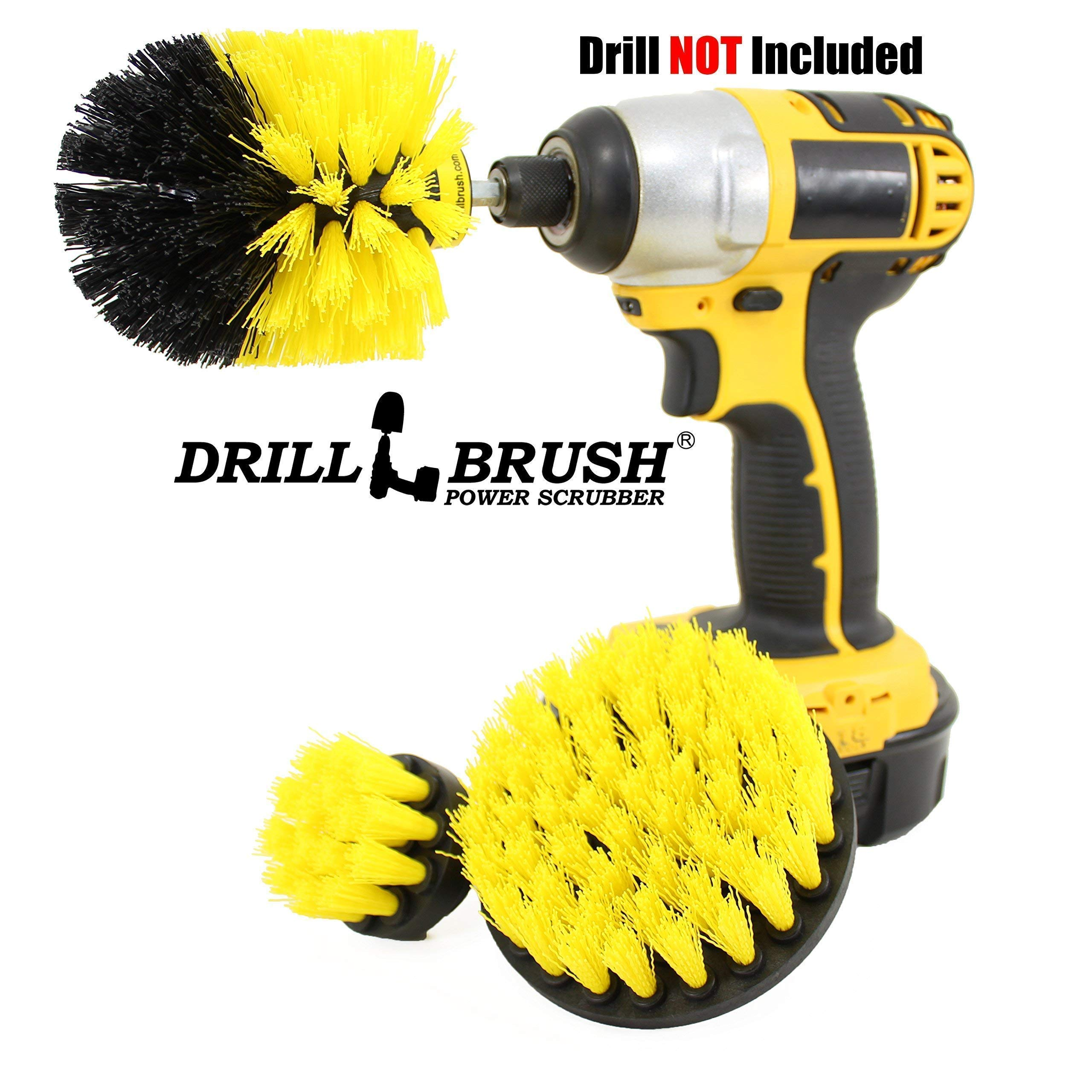 Bathroom Surfaces Tub, Shower, Tile and Grout All Purpose Power Scrubber Cleaning Kit by Drillbrush