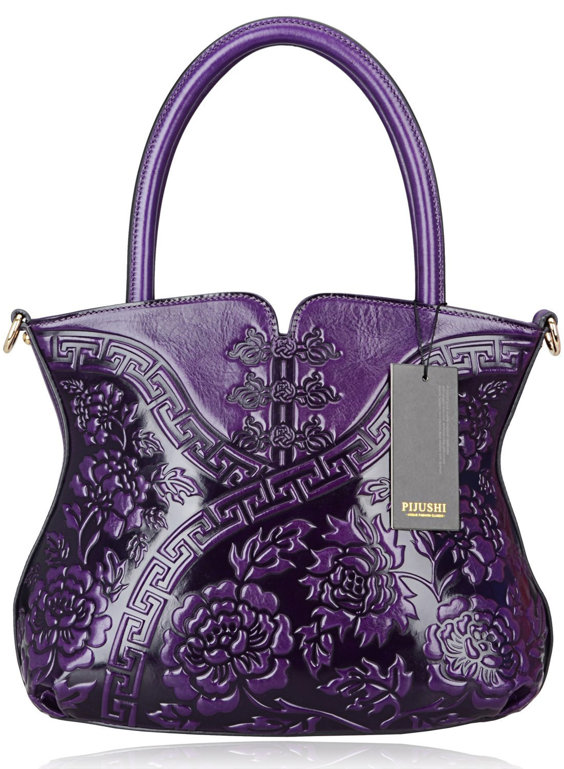 PIJUSHI Designer Flower Handbag Womens Top Handle Shoulder Satchel Bag Holiday Gift ( 22331 Violet)