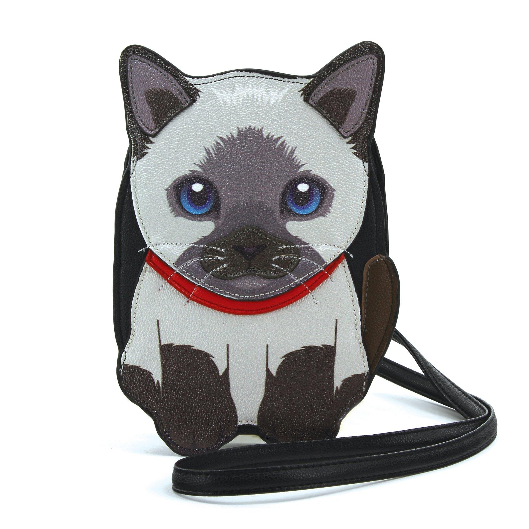 Sleepyville Critters - Siamese Cat Cross Body Bag in vinyl Material