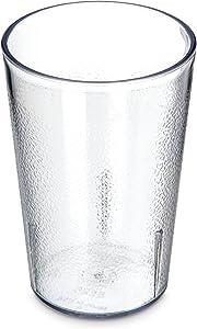 Carlisle Stackable Shatter-Resistant Plastic Tumbler, 8 oz., Clear
