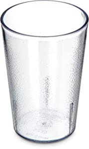 Carlisle 5526-207 Stackable Shatter-Resistant Plastic Tumbler, 8 oz., Clear (Pack of 24)