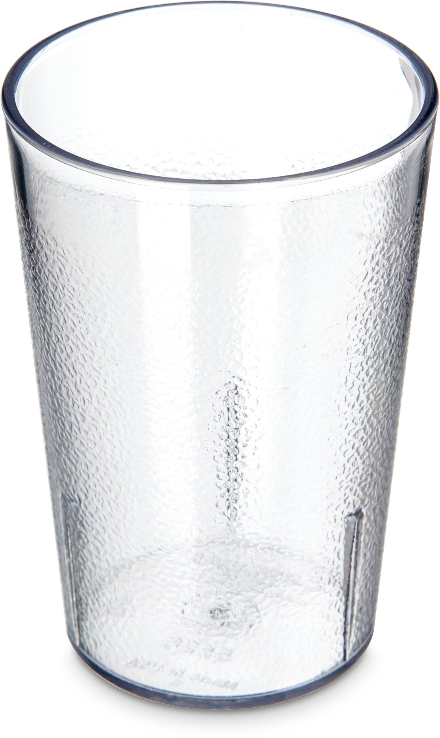 Carlisle 55268107 Stackable ShatterResistant Plastic Tumbler, 8 oz, Clear (Pack of 6)