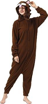 Katara- Pijamas Enteros Diferentes Animales y Tamaños, Adultos Unisex, Color Oso marrón, Talla 145-155cm (1744)