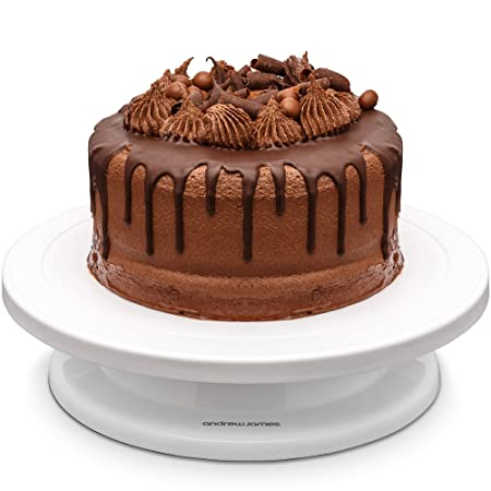 Andrew James Cake Turntable Rotating Cake Stand With Guidelines