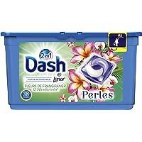 Dash 2en1 Perles Lessive en Capsules Fleurs de Frangipanier & Mandarinier 38Lavages