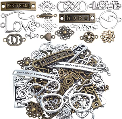 10pcs Infinity Love Hope Connector Charms Pendant Craft Jewelry Making Findings