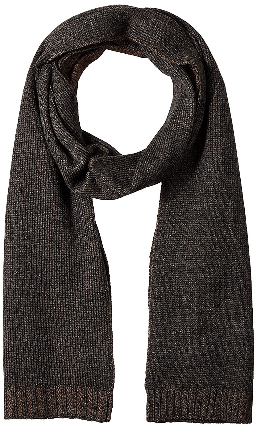 Calvin Klein Men's Plaited Logo Scarf Brown One Size Calvin Klein Neckties HKC73605