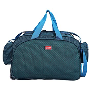 Bright Luggage Synthetic 40 L Peacock Light Weight Waterproof Travel Duffel  Bag with 2 Roller Wheels  Amazon.in  Bags, Wallets   Luggage 3de1e2d789