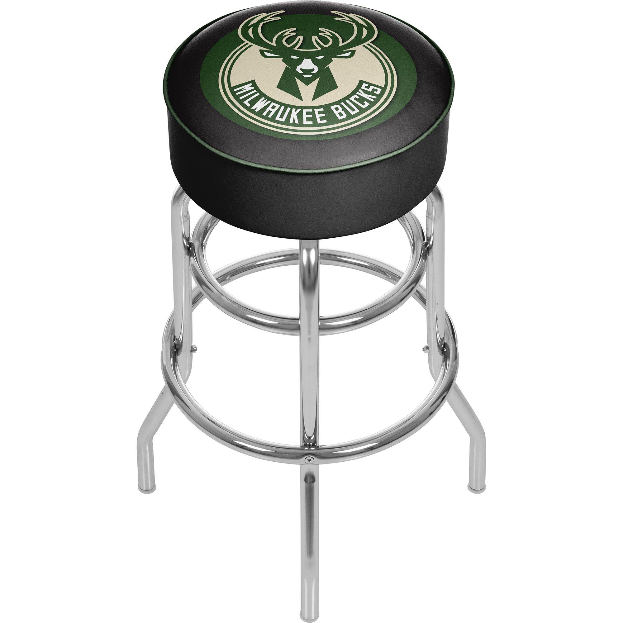 Trademark Gameroom NBA Milwaukee Bucks Padded Swivel Bar Stool